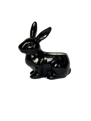 Black Rabbit shaped candle