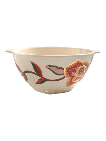 Ceramic colander with flowers