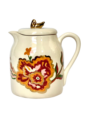 Ceramic ewer with flowers