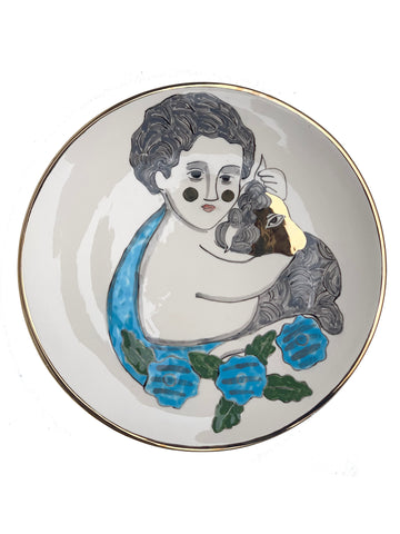 Ceramic plate with the image of John the Baptist