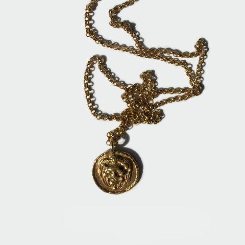 "Gold  pendant ""Lion"""