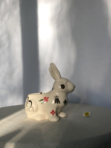 Rabbit shaped candle