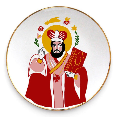 Ceramic plate with the image of Saint Nicolas