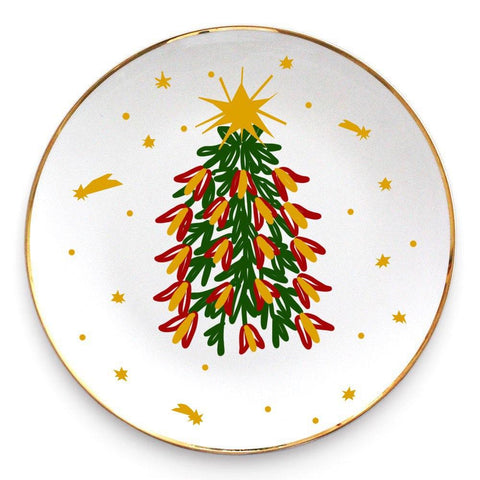 Ceramic plate with the christmas tree