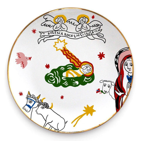 Ceramic plate with the image of the cherubim