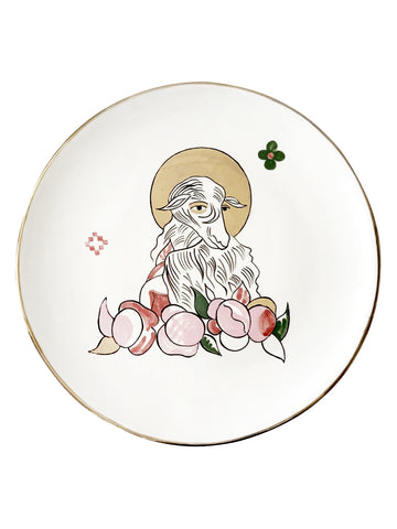 Ceramic plate with the sheep