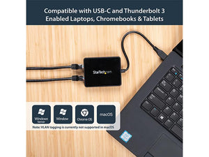 USB-C to Dual Gigabit Ethernet Adapter with USB (Type-A) Port