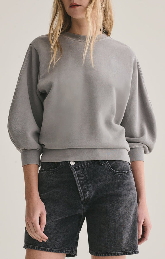 thora 3/4 sleeve sweatshirt | zinc