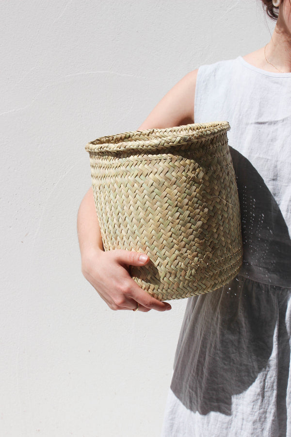 oaxacan handwoven palm basket (large)