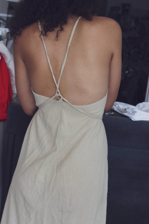 tie dress - low back