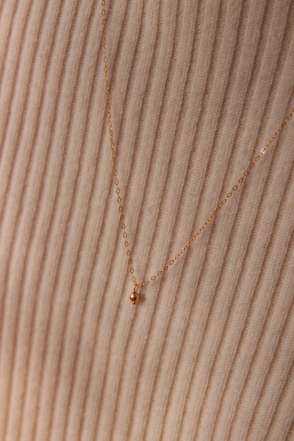 tiny bauble necklace