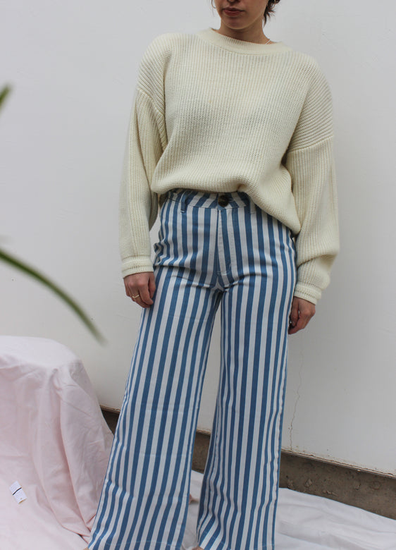 old mate pant | bay blue stripe