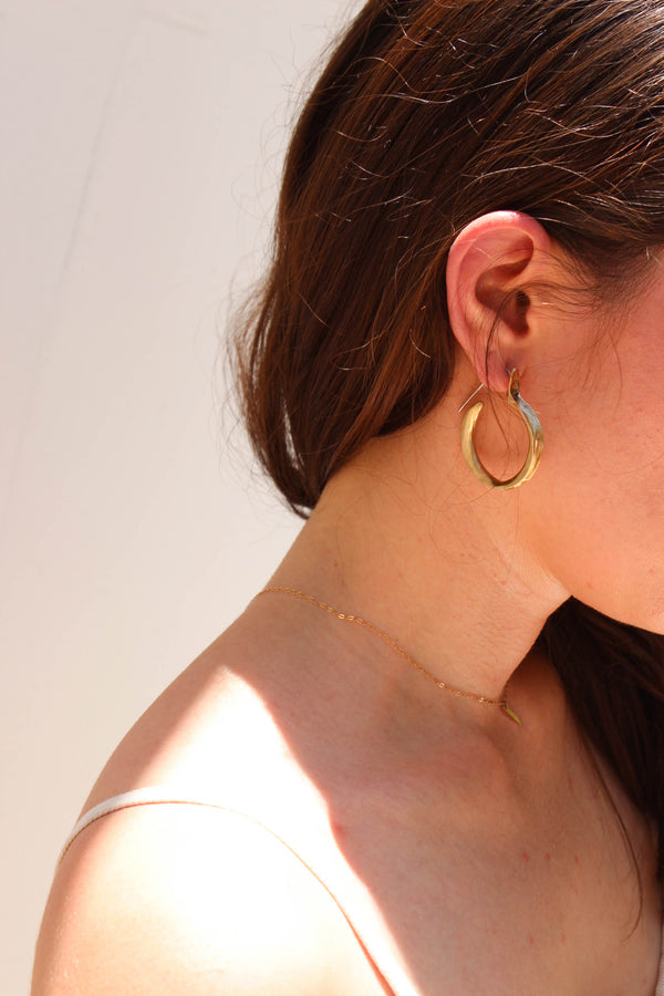 kiki earrings | brass