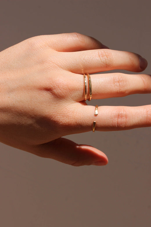 wishbone ring | gold & silver