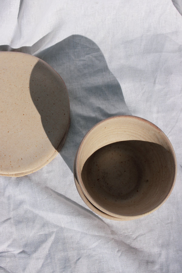 small stoneware plate | natural