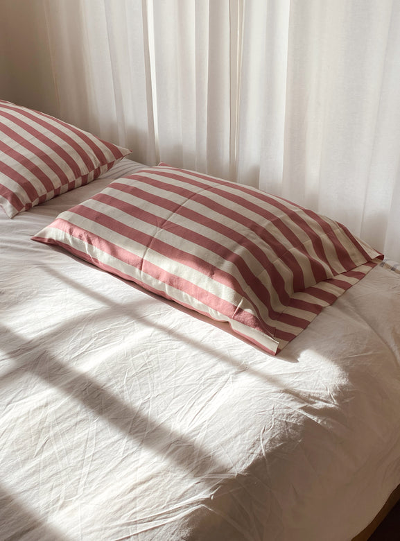 rose stripe pillowcase