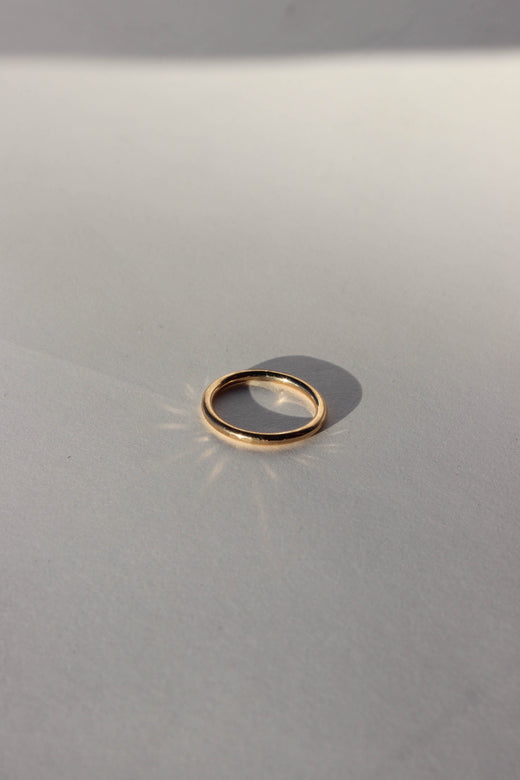 hammered round ring
