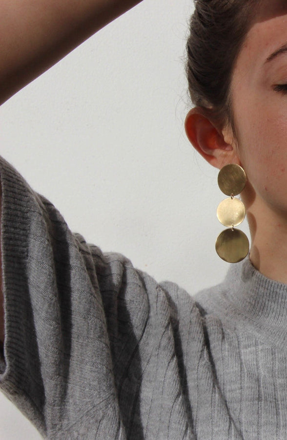 triple disc stud | brass