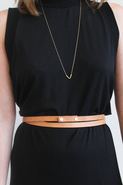 skinny double wrap belt