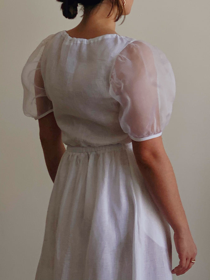 organza sleeve dress