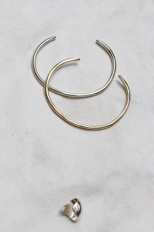 wishbone cuff | brass/white bronze