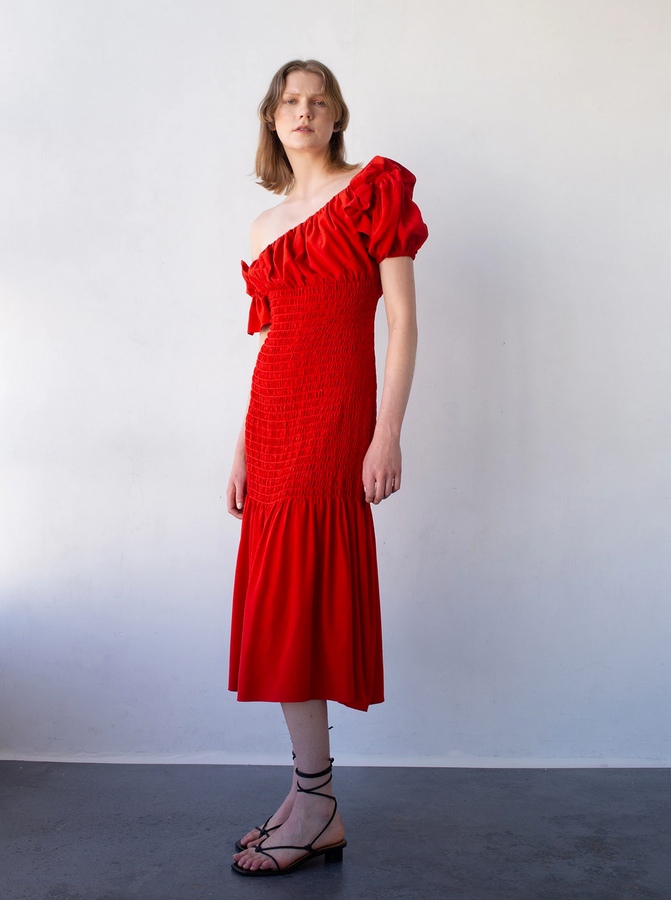 acacia dress | vermillion