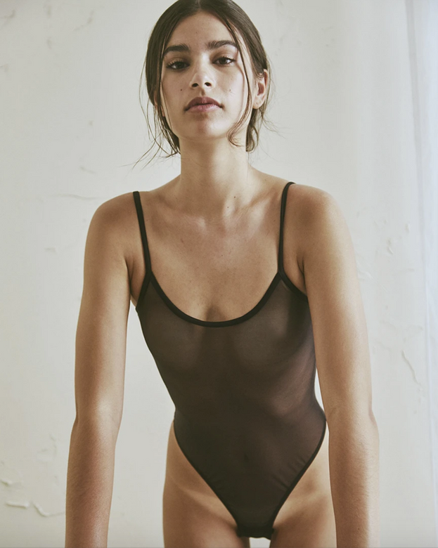 canova bodysuit | black