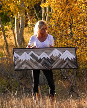 Large Neutral Mountain  - 42 x 18 in.