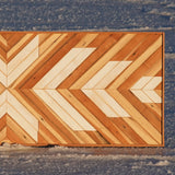 Large White & Redwood - 48 x 18 in.