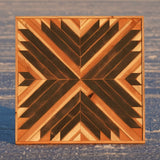 Small Black & Redwood - 24 x 24 in.