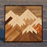 Small Neutral Mountain - 24 x 24 in.