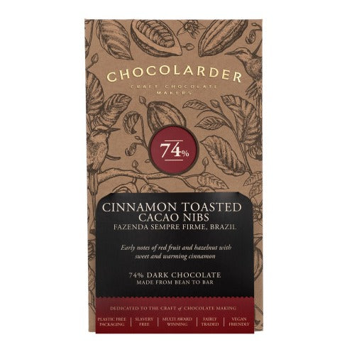 Chocolarder Cinnamon Toasted Cacao 74% (70g)