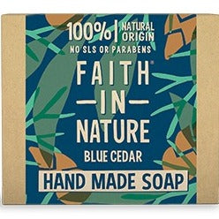 Faith in Nature Blue Cedar Soap for Men 100g