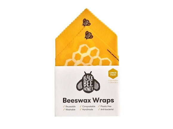 Black Bee Honey - Beeswax Wraps Pack of 10
