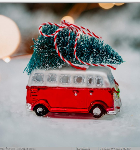 Camper Van with Tree Shaped Bauble