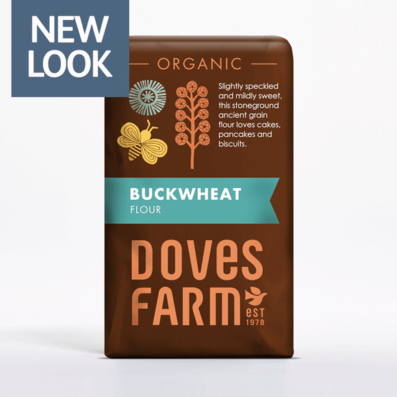 Doves Farm Organic Stone ground Wholemeal Buckwheat Flour 1kg