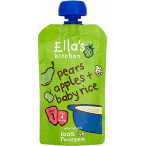 Ella's Kitchen Pears Apples & Baby Rice 120g