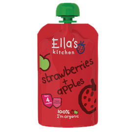 Ella's Kitchen Strawberries & Apples Babyfood 120g