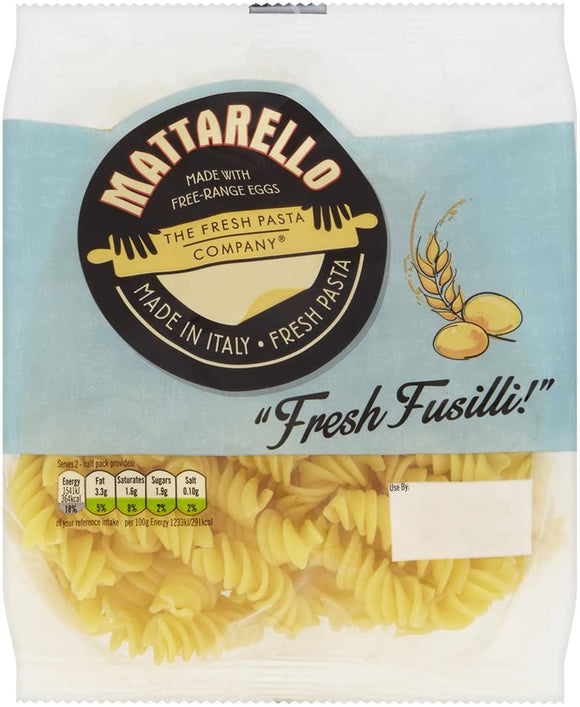 Fresh Pasta Co Fresh Fusilli 250G