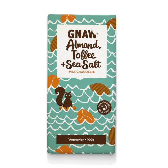 GNAW Almond, Toffee & Sea Salt Chocolate