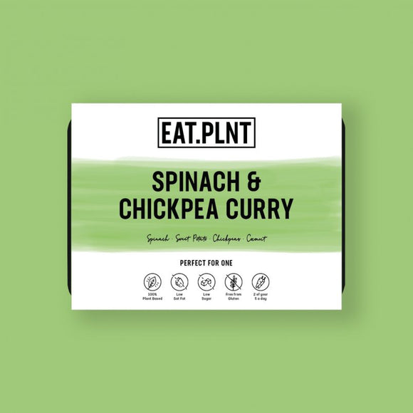 EAT.PLNT Vegan Spinach & Chickpea Curry