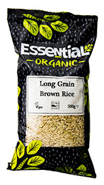 Essential Organic Long Grain Brown Rice 500g