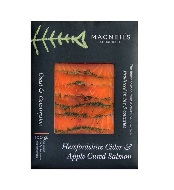 Macneils cider and apple cured salmon 100g