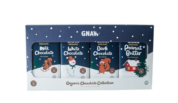 Gnaw Organic Chocolate Collection (4 bar) 400g