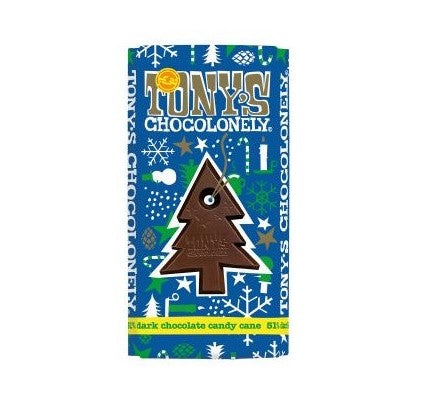 Tonys Chocolonely Mint Candy & Dark Chocolate Bar (180g)