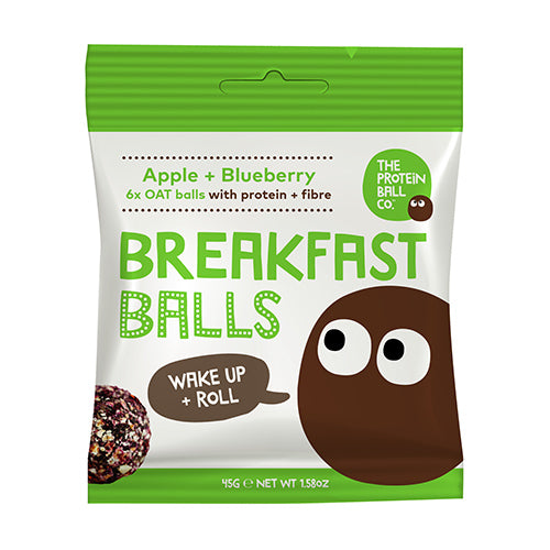 The Protein Ball Co Apple & Blueberry Breakfast Ball 45g
