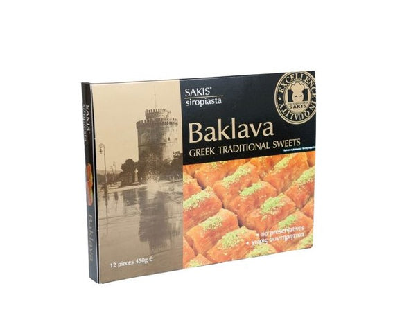 Sakis Baklava Traditional Greek sweets 450g