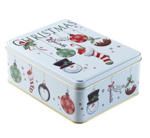 Farmhouse Biscuits Bauble Stocking Tin 400g