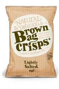 Brown Bag Crisps Lightly Salted 150g