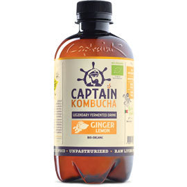 Captain Kombucha Ginger Lemon 400ml